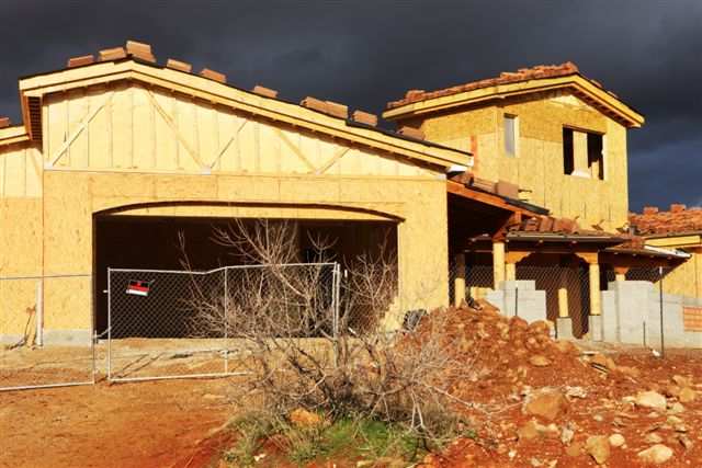 Home Construction Sunset Storm Sky